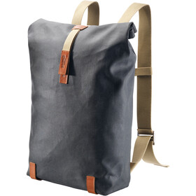 Brooks Pickwick Canvas Backpack 26L, grey/honey